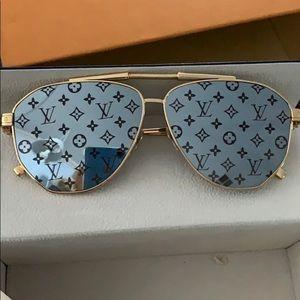 LV monogram mirrored lenses sunglasses